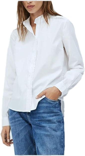 Pepe Jeans- Camisa de Manga Larga PL303844 ZABILA 808 Mousse ...