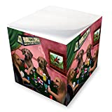Home of Rhodesian Ridgeback 4 Dogs Playing Poker Note Cube