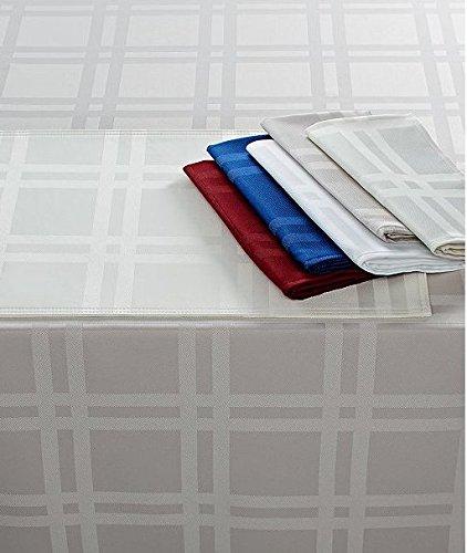 (Martha Stewart Table Linens, RED Skylight Plaid Tablecloth 60