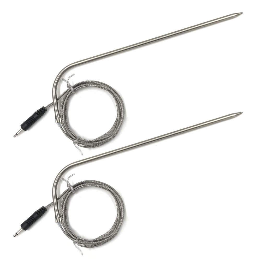Two Pack Cooking Thermometer 7'' Probe Replacement with 40'' wire, Waterproof, Stainless steel, Heat-Resistant, Step-Down Probe Tip, For Smoker Oven Kitchen BBQ Grill Thermometer