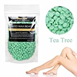 Hair Removal Hard Wax Beans - Mabox Painless Waxing Ideal for Removal of Bikini and Body Hair on All Skin Types - Easy Depilatory & No Strips Required 100g (Green)