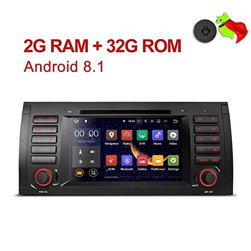 """MCWAUTO Android 8.1 Car Stereo for BMW E39 E53 M5 X5 Car Radio Audio 7"""" Quad Core GPS DVD Player Multi-Touch Screen Radio CD DVD Player GPS 1080P Video Screen Mirroring OBD2 WiFi Rear View Camera"""