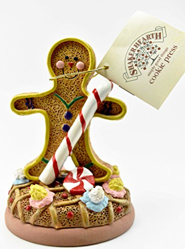 Shaker Hearth Cookie Art Stamp GINGERBREAD MAN Ceramic Stamp with Decorative with Booklet c1997 Retired