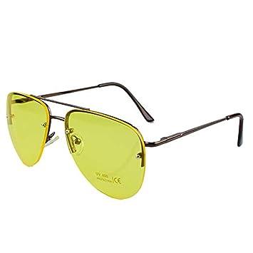 Noche Conducción Gafas HD Anti Deslumbramiento Visión Polarizado Amarillo Lente Tintado Unisexo Tintado Piloto Noche Visión