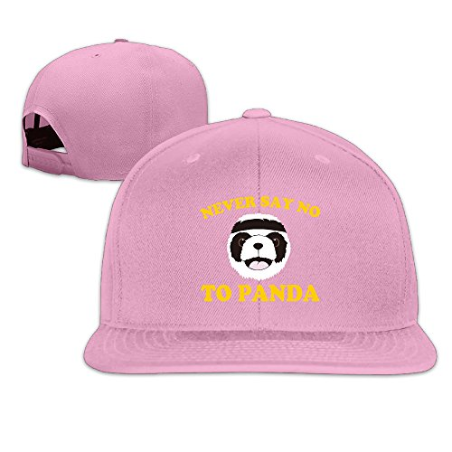 Never Say No To Panda Flat Brim Adjustable Baseball Hat -