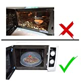 Large Microwave Plate Cover Easy Grip Microwave