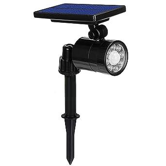 Lampe Solaire à 8 LED 800 Lumens Ultra Puissante,Eclairage Exterieur ...