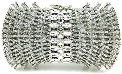 ハンドバッグ - ダイヤモンド夕食の女性の手のバッグ、手作りバッグショルダーバッグ夕方の財布を持つ、新しいウエディングドレスのパッケージを花嫁介添人 よくできた (Color : Silver)