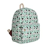 Gumstyle Canvas Travel School Bag Backpack Rucksack Sheep Green