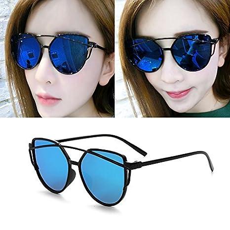 Sunyan Lunettes de soleil femme étoile des nouvelles lunettes Lunettes de personnalité ronde ronde du visage des femmes les yeux des hommes de Corée 9758,cadre noir