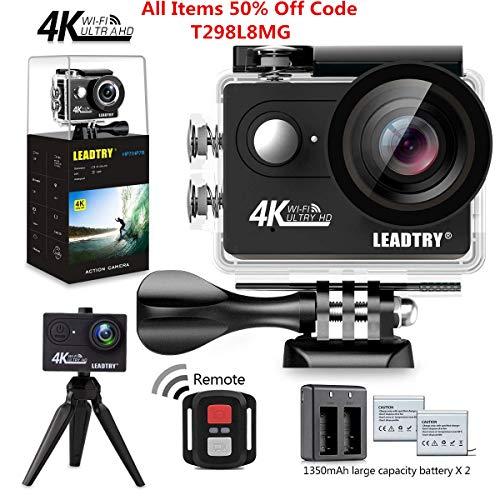 LeadTry HP7R Full 4K HD Action Camera Wifi, Mini 12MP Underw