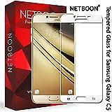 NETBOON Premium Tempered Glass Screen Protector Edge To Edge Coverage Screen Guard Gorilla Glass for Samsung Galaxy C5 - White