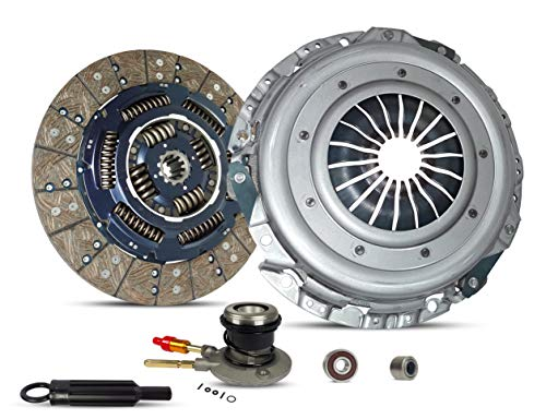 (Clutch With Slave Kit Works With Gmc Sierra Yukon Chevy Silverado Tahoe Base LS LT SL SLT SLE Extended Cab Pickup 1999-2000 5.3L 4.8L V8 GAS OHV Naturally Aspirated)