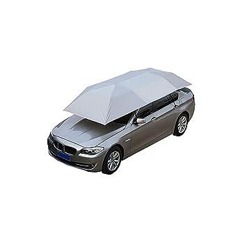 Carpa Auto Semiautomática Carport Móvil Carretilla Plegable Portátil Protección del Automóvil Car Paraguas Sunproof Sun Carpa