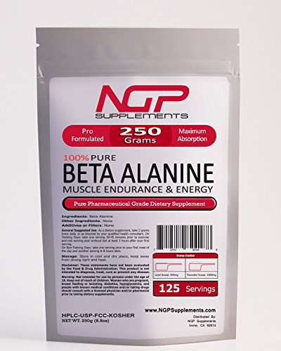 BETA ALANINE Powder - Kosher - Recovery - Muscle Endurance & Strength (250g)