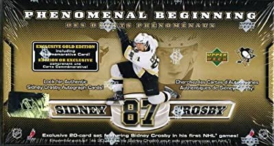 2005/2006 Upper Deck Sidney Crosby Phenomenal Beginnings Gold 21 Card Rookie Card Set w/Jumbo Card