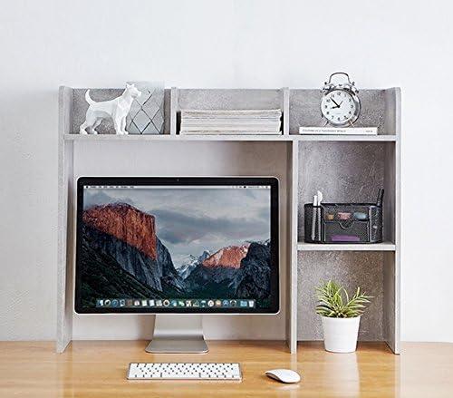 DormCo Classic Desk Bookshelf – Marble Gray