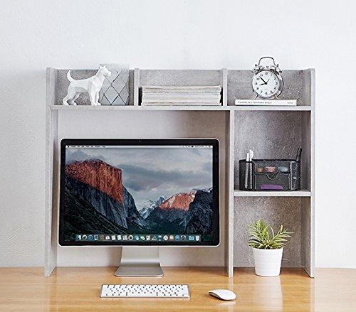 DormCo Classic Desk Bookshelf - Marble Gray by DormCo