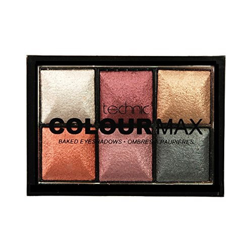 Technic Colour Max 6 Colour Baked Eyeshadows 6x2g-Treasure Chest 24515