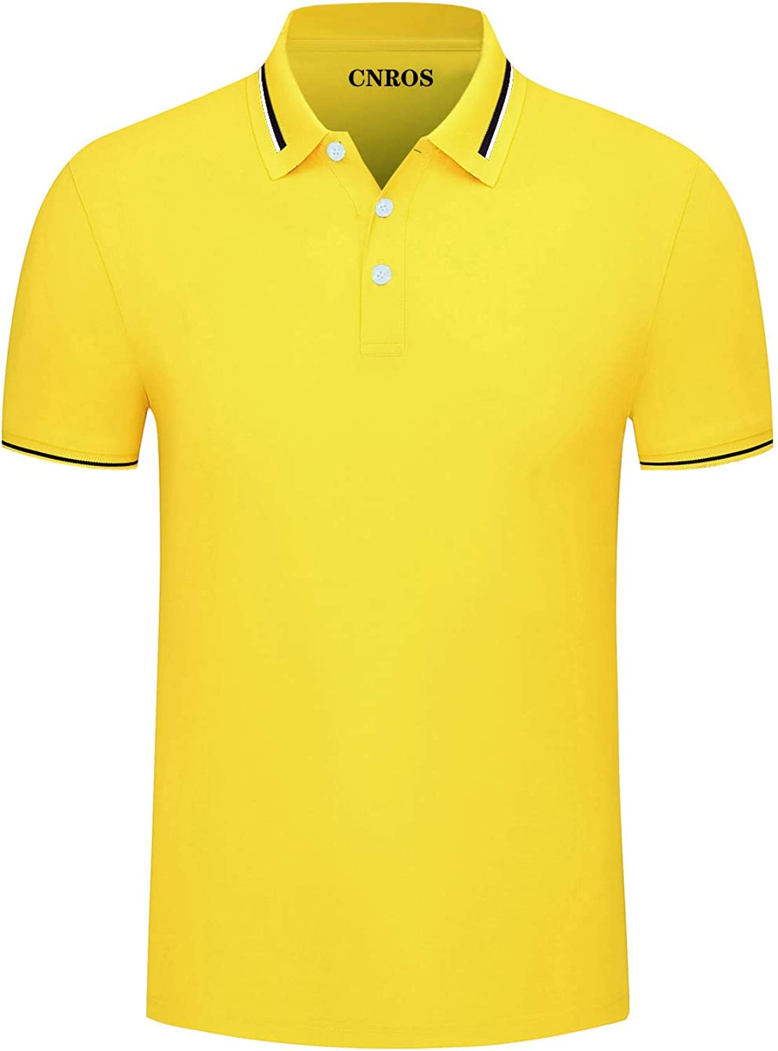 CNROS Men's Short Sleeve Solid Polo Shirt