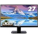 Acer (エイサー) KA270HKbmjdppx 27型ワイド 4K対応液晶モニター [3840x2160/IPS/DisplayPort・Mini DP・HDMI・DVI] ブラック