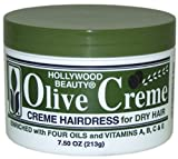 Hollywood Beauty Olive Cholesterol & Olive Creme, 7.5 oz (Pack of 4)