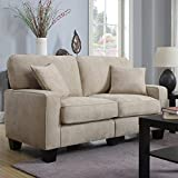 Serta RTA Palisades Collection 61'' Loveseat in Silica Sand