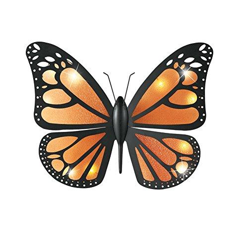 Lighted Metal Butterfly Wall Art ()