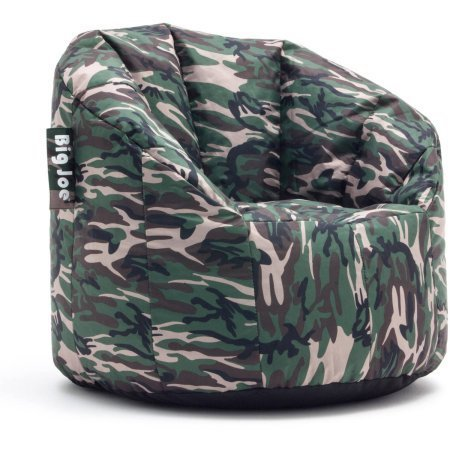 (Big Joe Milano Bean Bag Chair Multiple Colors, Provides Ultimate Comfort, Great for Any Room (Woodland Camo))