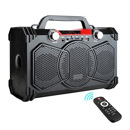 Portable Wireless Big Power Job Site Radio, 30W Bluetooth Speaker Support FM Radio MIC TF AUX USB with Remote Control
