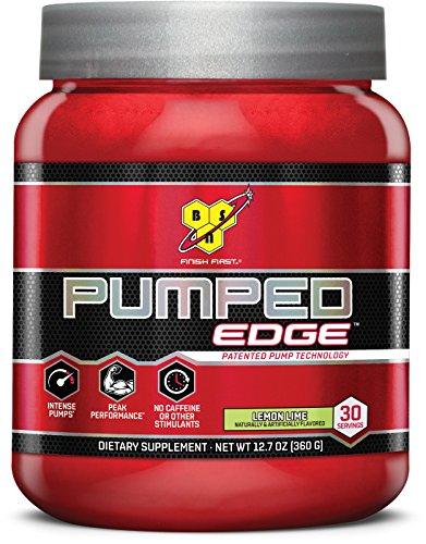 Edge Powder - BSN 30 Servings Pumped Edge Pre-Workout Powders, Lemon Lime, 360 Gram