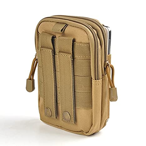 Utility Military Gadget Organizer Pouch Belt Bag Multi-Purpose Outdoor Waterproof Men Sport Waist Bag Casual Waist Pouch Tactical Molle Waist Pouch orange