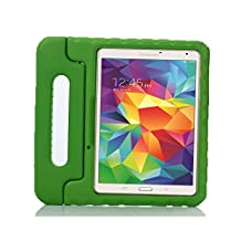 Samsung Galaxy Tab S 10.5 Kids Case - Lumcrissy Light Weight EVA Shock Proof Kids Super Protection Cover Handle Stand Kids Friendly for Samsung Tab S 10.5-Inch Tablet SM-T800 / SM-T805 /SM-T807 (Green)