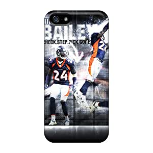 Iphone 5/5s DBN18560EHFg Support Personal Customs Vivid Denver Broncos Pattern Best Hard Cell-phone Cases -AaronBlanchette