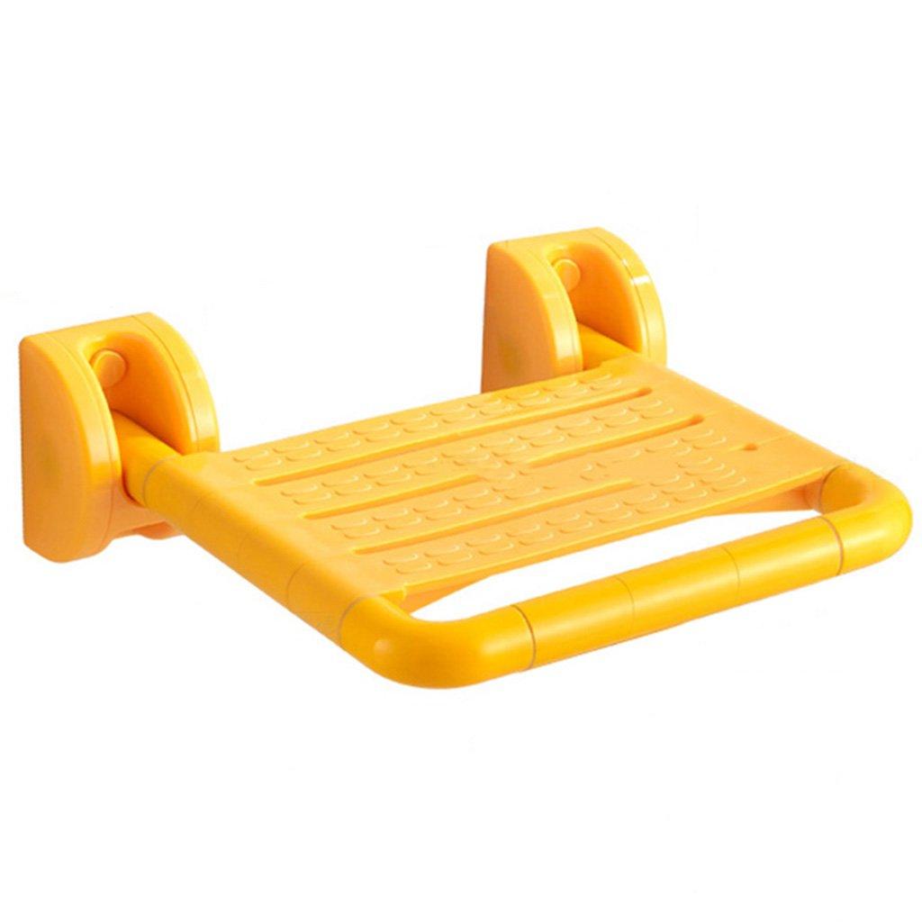 TH シャワーチェア ステンレススチール折りたたみバスルームシートシャワースツールバスチェア 風呂椅子 ( 色 : イエロー いえろ゜ )  イエロー いえろ゜ B07BW9GBRW