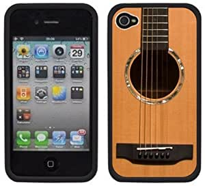 Accoustic Guitar Music Handmade iPhone 6 plus 5.5 Black Hard Plastic Case
