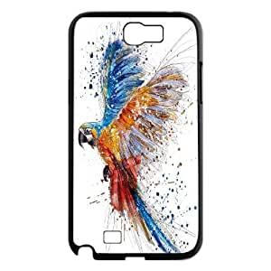 Qxhu Parrot patterns Protective Snap On Hard Plastic Case for Samsung Galaxy Note2 N7100
