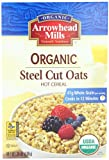 Arrowhead Mills Organic Hot Cereal, Steel Cut Oats, 24-Ounce Boxes (Pack of 4)