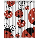 60 Width X 72 Height Great Discount Ladybug Cute