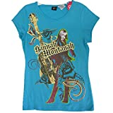 Disney Big Girls Aquamarine Hannah Montana Guitar T-Shirt Plus Size 10.5-20.5