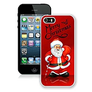 Popular Sell Design Iphone 5S Protective Cover Case Santa Claus iPhone 5 5S TPU Case 19 White