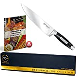 Chef Knife 8 Inch - Ultra Sharp Stainless Steel Blade - Multipurpose Kitchen Knife With Comfort Grip - Perfectly Balanced Handle - Chef's Quality - Great Gift In A Premium Box - by KITCHENVERTEX