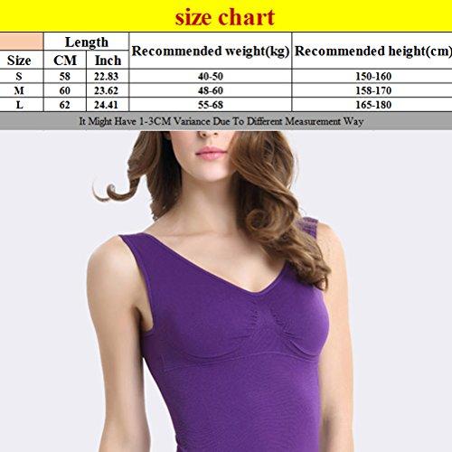 Zhhlaixing Women's Vest Seamless Shapewear Tummy Slimming Body Shaper Dark Purple