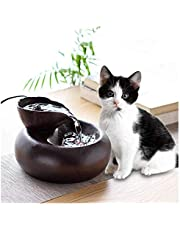 llkajes Pet Water Fountain Cat Water Fountain for Drinking Ultra-Quiet Pump Pet Water Dispenser for Cats Small Dogs 1.5L (Color : Brown)