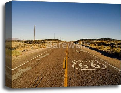 barewalls Route 66 Gallery Wrapped Canvas Art (16in. x 20in.) by barewalls