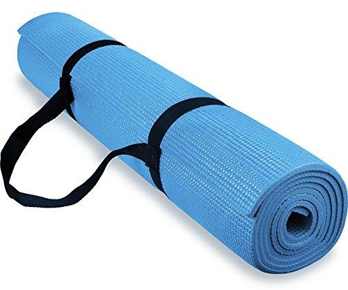 premium yoga 1/4 72X24 Inch Anti-Slip Exercise Mat W Carryin