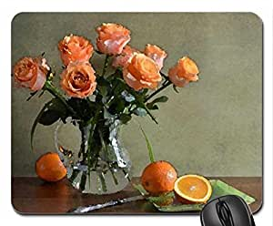 Roses Still Life Mouse Pad, Mousepad (Flowers Mouse Pad, Watercolor style)