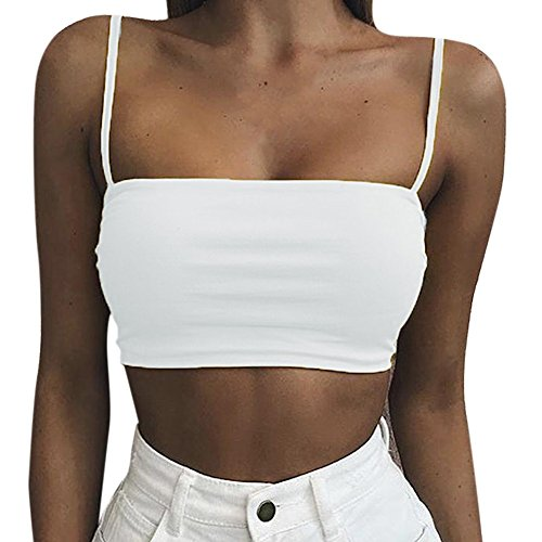 Fedi Apparel Fashion Women Tank Top Bustier Bra Vest Crop Top Bralette Cami Shirt Tee