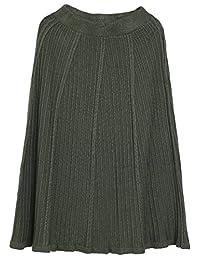 Cruiize Womens Winter Knitted Elastic High Waist A-Line Midi Skirts