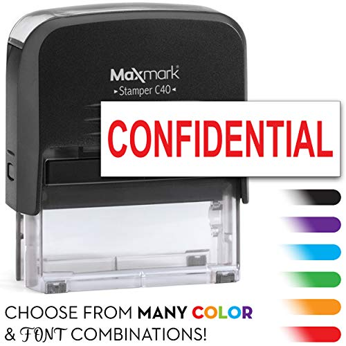 MaxMark Large Size - 1-Line Custom Self Inking Stamp - w/ 5-Year Warranty